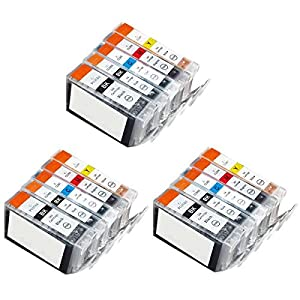 15 Pack with CHIP Non-OEM Ink for PGI-225 CLI-226 Pixma ip4820 iP4920 MG5120 MG5220 MG5320 MG6120 MG6220 MG8120 MG8220 MX882