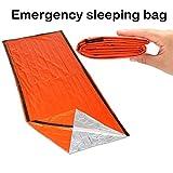 Katoot@ Portable Emergency foil Reusable Waterproof Rescue Space Thermal orange Sleeping Bag Outdoor Camping Travel Hiking Travel Kits