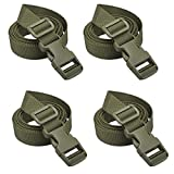 XTACER Backpack Accessory Strap Luggage Straps Cover Strap Sleeping Bag Strap with Buckle (GREEN - Release Buckle Straps (4-Pack))