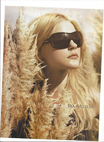 MAGAZINE ADVERTISEMENT For BCBG Max Azria Sunglasses With Jessica - Azria Sunglasses Bcbg Max