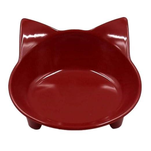 HAHAJY Pet Tableware Pet Bowl para el comedero del Gato del Gato ...