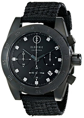 Electric Men's EW0030020005 DW01 Nato Band Analog Display Japanese Quartz Black - Sunglasses Japanese