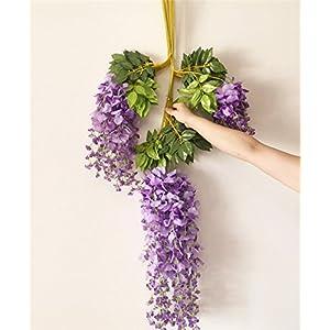 12pcs Wisteria Vine 105cm Artificial Wisteria Flower Vines for Wedding Party Decorative Flower Rattans 6