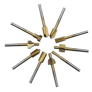 10pcs Mini Fresadora Reversible de Carpintería Suministros ...