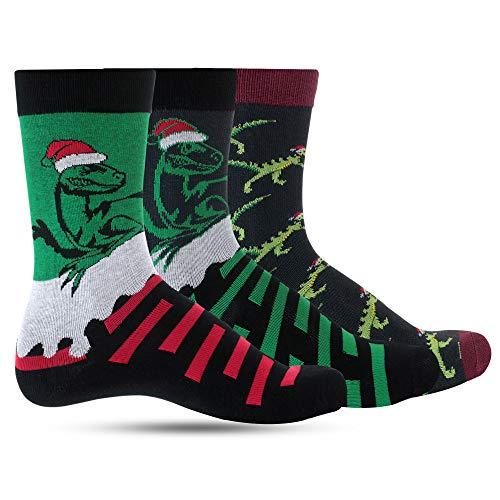 Dino Christmas Socks For Boys Crazy Dinosaur Socks For Kids: Boy Funny, Cool, Funky, Colorful Holiday