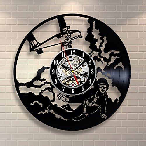 Skydiver Hobby Art Vinyl Record Clock Wall Decor Home Design