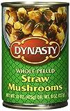 Dynasty Whole Peeled Straw Mushrooms, 15 Ounce