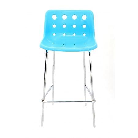loft robin day 4 leg bright blue plastic polo bar stool amazon co