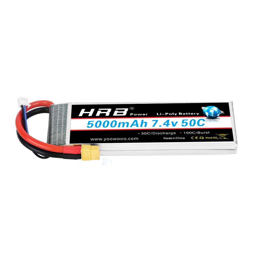 Batería LiPo de 7.4v,  5000mah, 2S, 50C