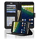 Navor Protective Flip Wallet Case for Huawei Nexus 6P - Black (NX6PBK)
