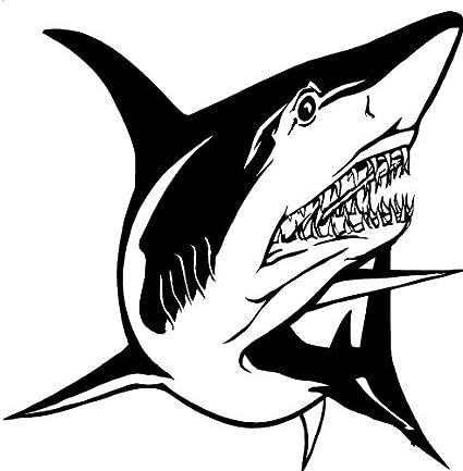 Mostrando su enfado tiburon todos los dientes, el pvc ...