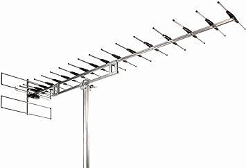 Wisi EB 67 LTE Exterior 15.5dB - Antena (Exterior, Plata, 15,5 dB, UHF, 60 Canales, F)