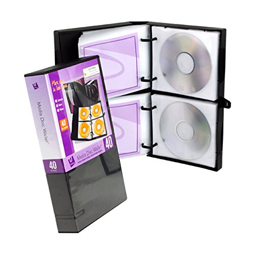 Unikeep Cd / Dvd - UniKeep Disc 40 CD/DVD Wallet with 40 Pages - Pack of 3