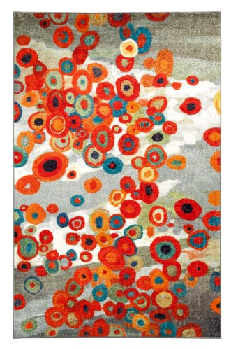 Free Mohawk Home Strata Tossed Floral Printed Rug, 8'x10', Multi