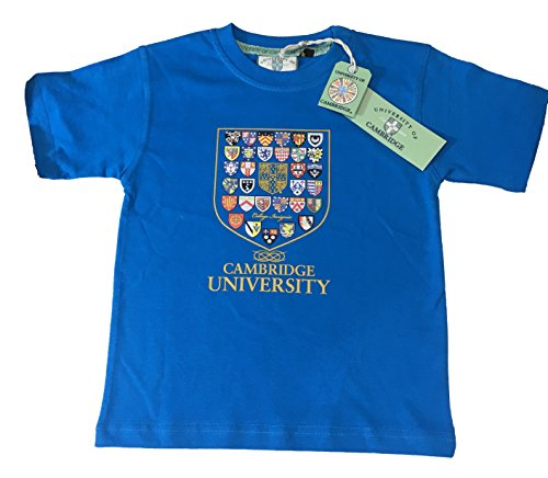 Kids Cambridge College Crest T-shirt - Official Apparel of the Famous Univeristy of (College Style Crest T-shirt)