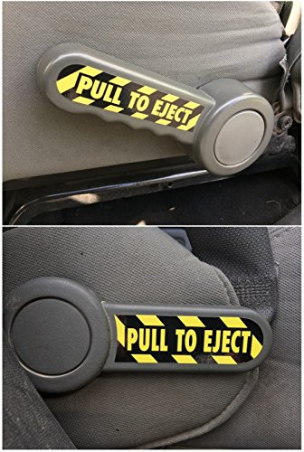 PULL TO EJECT Decal / Sticker Set for Jeep Wrangler JK, JKU, Sahara, Rubicon