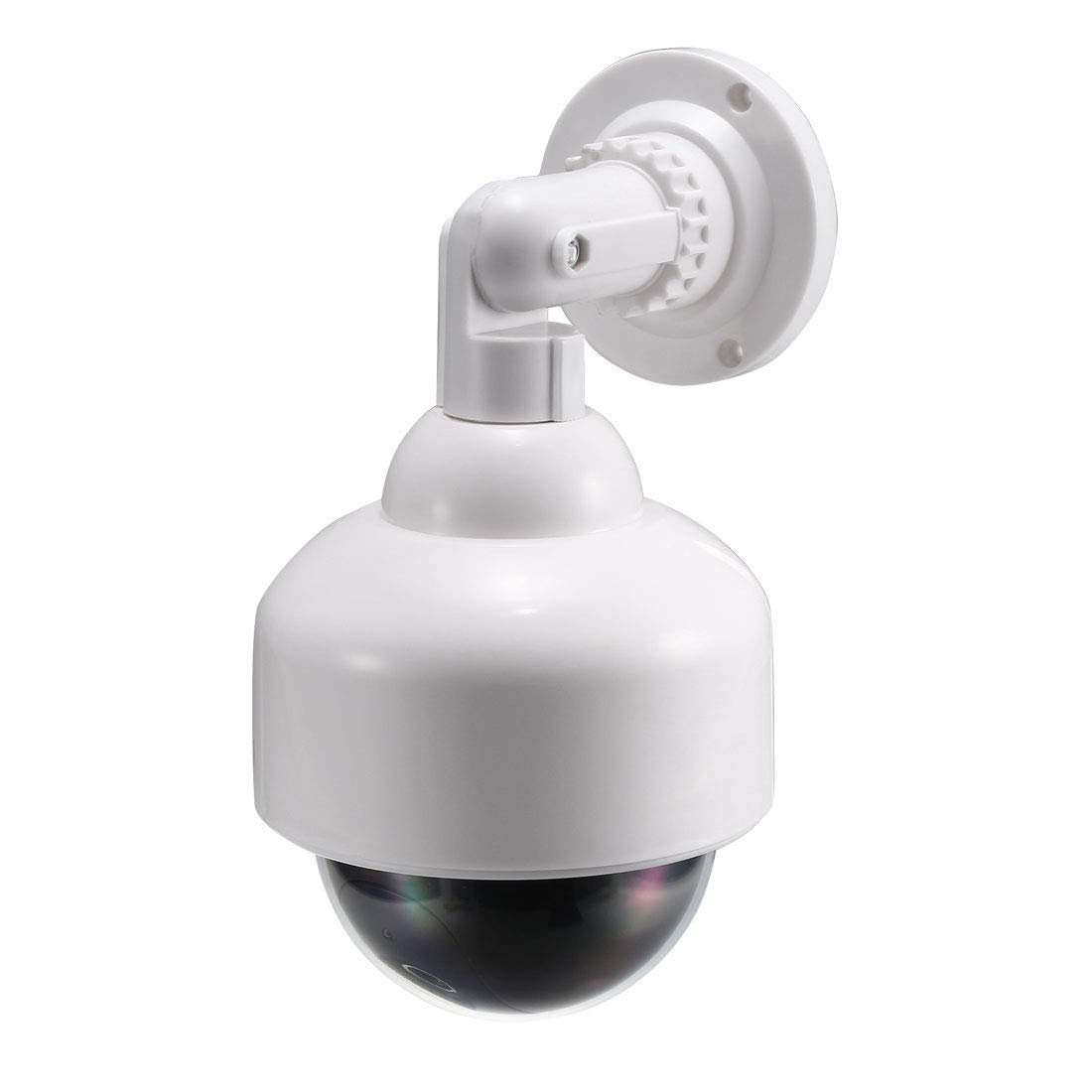 ZCHXD Fake Security Camera Dummy Dome CCTV with Blinking Red LED Warning Alert Light, Sticker for Home Outdoor Indoor White