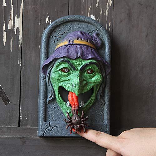 Halloween Clearance, Luminous Sound rick Witch Skull Vampire Doorbell Halloween Supplies Door Bells (A) -