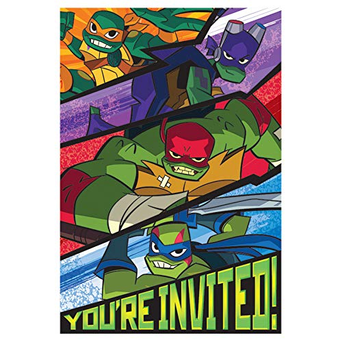 Rise of the TMNT Postcard Invitation Teenage Mutant Ninja Turtles Party Supplies]()