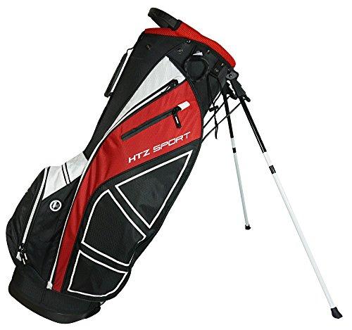 Hot-Z Golf Sport Stand Bag, Black/Red/White