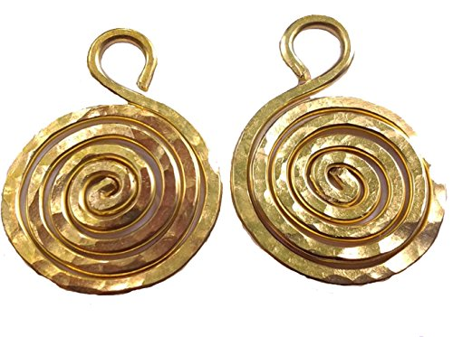 - Red Brass Jewelry Making Accessories Hand Hammered Infiniti Spiral Charm Small .7 Inches