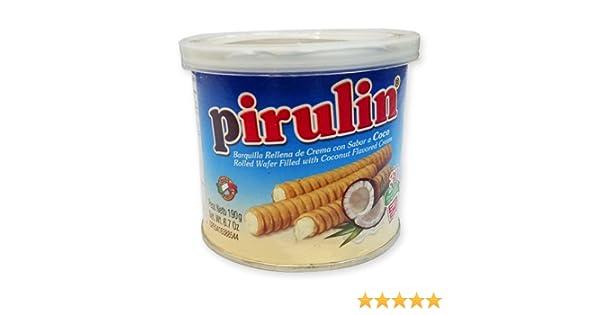 PIRULIN COCO Barquillas Rellenas con Crema Sabor a Coco/Rolled Wafer Filled with Coconut Flavored Cream 190 gr/6.7 Oz each: Amazon.es: Alimentación y ...