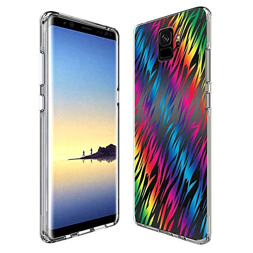 LONHAO Samsung Galaxy S9 Plus Case Color Grain Printed Transparent Clear Case with Rubber Silicone Skin Clear Soft Flexible Protective Cover for Samsung Galaxy S9 Plus
