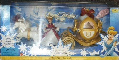 Disney Cinderella Royal Holiday Carriage and Mini doll play set - Disney Holiday Collection - -
