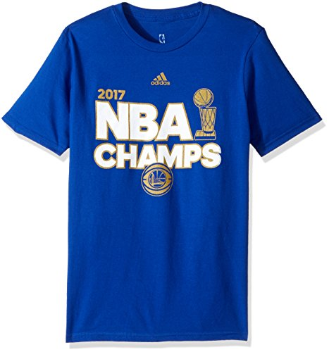 Outerstuff NBA Golden State Warriors Boys -Big Time Short sleeve Tee, Royal, M(10-12)