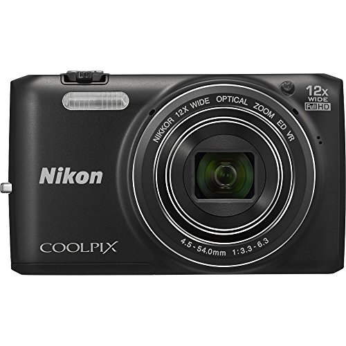 Nikon COOLPIX S6800 16 MP Wi-Fi CMOS Digital Camera with 12x Zoom NIKKOR Lens and 1080p HD Video (Black) (Certified Refurbished)