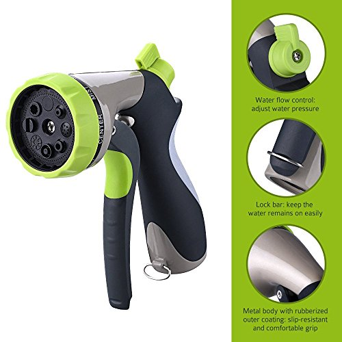 Zibpros garden hose nozzle spray heavy duty