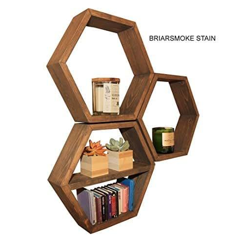 Kitchen Shelf Amazon: Amazon.com: Rustic Hexagon Shelf