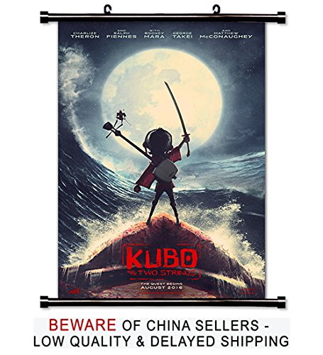 Kubo and the Two Strings Movie Fabric Wall Scroll Poster  In
