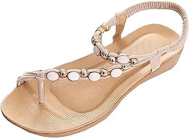 Alaso sandales femme Chaussures en cuir Bohemia flat flip