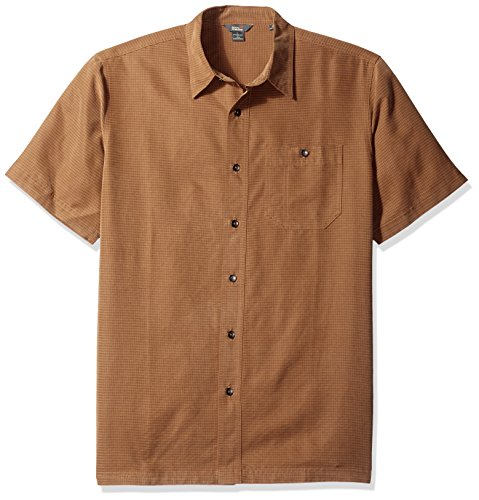 Royal Robbins Men's Mojave Desert Pucker S/S Walnut Button-up Shirt MD