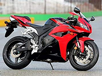 Flat Black with Red Complete Fairing Bodywork Painted ABS Plastic Injection Molding Body Kit w//Tank Cover for 2007 2008 Honda CBR 600 RR CBR600RR 600RR FocusAtOne USA Stock