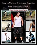 Unlimit Basketball Pants with Knee Pads, Black Knee
