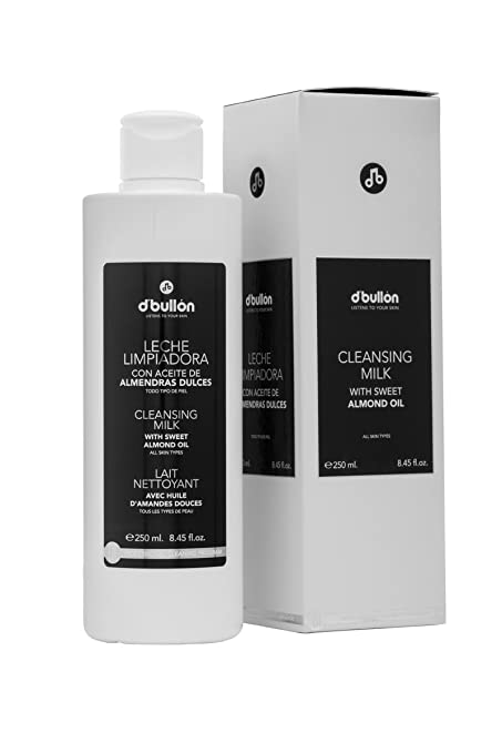 DBullón Leche facial limpiadora con aceite de almendras. Limpiador facial-250 ml: Amazon.es: Belleza