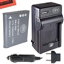 BM Premium LI-50B, LI50B, LI-50, LI50 Battery and Charger for Olympus Stylus SH-25MR, SP-720UZ, SP-800UZ, SP-810UZ, SZ-10, SZ-12, SZ-15, SZ-16 iHS, SZ-20, SZ-30MR, SZ31MR iHS, TG-610, TG-630 HIS, TG-810, TG-820, TG-830 HIS, TG-850, TG-850 IHS, TG-860, TG-870, VG-190, XZ-1, XZ-16 iHS Digital Camera