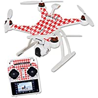 MightySkins Skin For Blade Chroma Quadcopter – Red Houndstooth Protective, Durable, and Unique Vinyl Decal wrap cover | Easy To Apply, Remove, and Change Styles | Made in the USA