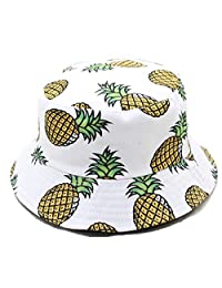 LOKIDVE Bucket Hat Cotton Fisherman Cap Summer Packable Sun Hat for Women Men