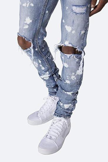 Nueva Pintura de Hombre Splat Jeans Elegante Washed Mill ...