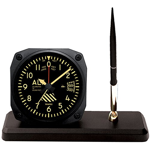 "New TRINTEC ALTIMETER 3.5/""  VINTAGE Altitude Aviation Travel Alarm Clock"
