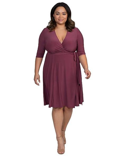 Kiyonna Women\'s Plus Size Essential Wrap Dress