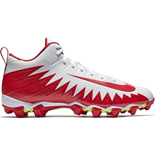 the best attitude 0f4ed e5cad Nike Men s Alpha Menace Shark Football Cleat White University Red Size 11 M  US