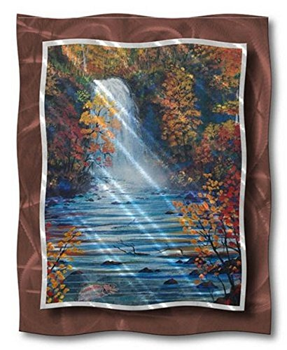 All My Walls Her00010 Metal Wall Contemporary Modern Abstract Landscape 'Autumn Falls'