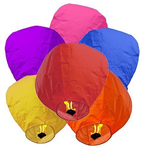DG SPORTS Sky Lanterns for Wedding, Birthday, & Other Occasions (Individually Wrapped), 24 Piece