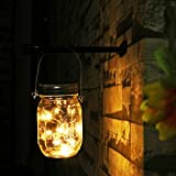 NEWYANG Solar Mason Jar Lights - Led Water-Proof Outdoor Fairy Lights ,Hanging Lights for Garden, Courtyard, Wedding, Party, Bar, Cafe,Christmas,Wall,Table,Tree,Fence, etc. (Warm)