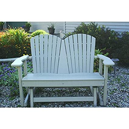 Perfect Choice Outdoor Furniture Recycled Plastic 2 Person Glider
