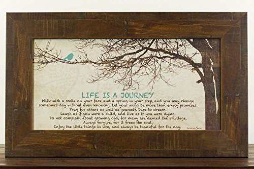 Life Is A Journey Home Family Love Inspirational Religious Framed Art Decor 13x22